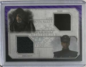 2020 Topps Masterwork Star Wars DUAL COSTUME RELIC Luke - Finn /25 Skywalker