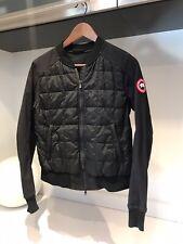 Canada Goose Womens Sz M Authentic Black Hanley Bomber jacket $450 Retail