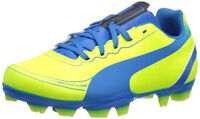Puma Evospeed 5.2 Jr FG Yellow Blue Kids Youth Soccer Cleats Sizes 5.5, 6, 3