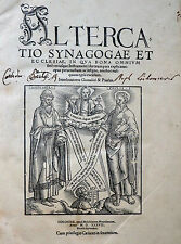 "CHRISTEN & JUDEN ""ALTERCATIO SYNAGOGAE ET ECCLESIAE"" KÖLN MELCHIOR NEUSS 1537"