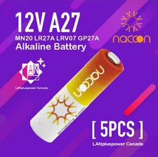 5x Naccon 12V 27A A27 MN20 LR27A LRV07  GP27A  Alkaline Battery