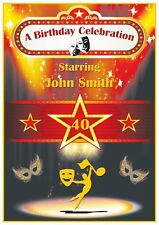 Personalised Theatre Theme Birthday Card - Gorgeous !