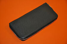 Authentic Men's Louis Vuitton Gray Taiga Leather Zippy Wallet M32601 - Pre-Owned