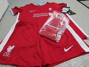 Genuine NIKE Liverpool Junior Unisex Kid's Full Kit 2020/21, Size: 7-8 Years