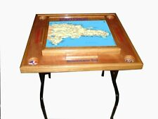 Domino Table with the Dominican Repulic Map