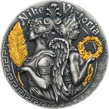 Niue 2018 2 Oz Silver VICTORIA AND NIKE Goddesses Coin