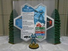 Heroscape Custom Mister Mr Freeze Double Sided Card & Figure w/ Sleeve DC