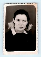4 Vintage original photo Portrait bow HAIR Beautiful girl woman Soviet USSR S05