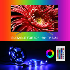 4x 50CM TV LED Backlight USB RGB LED Strip Light Remote Kit for TV Computer Lamp
