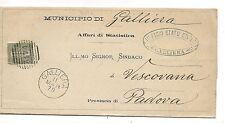 P4050    Bologna, GALLIERA numerale a sbarre 1879 per Padova