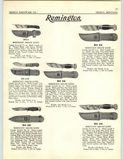 "1930 PAPER AD Reminton Hunting Sheath Knife Knives 10"" Blade"