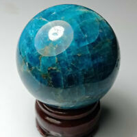Natural Blue apatite sphere crystal Quartz Ball Mineral Healing Stone Home Decor