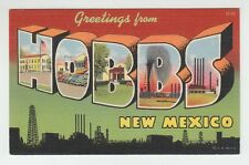 [65367] Old Large Letter Postcard Greetings From Hobbs, New Mexico