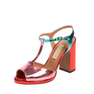 RRP €275 L' AUTRE CHOSE Leather T-Strap Sandals EU 36 UK 3 US 6 Made in Italy