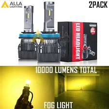 Alla Lighting 10000LM H8 LED Fog Light Bulb Driving Lamp Replacement Gold Yellow