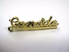 Vintage Collectible Pin: Canada Gold Tone