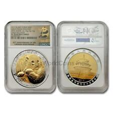 China 2017 Panda 35th Anniv. 500 Yuan Bi-Metal Gold & Silver Coin NGC PF70 S7783