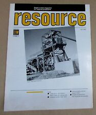 Vintage Fall 1989 Eagle Iron Works Resource Magazine Material Producers Free S/H