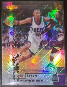 Ray Allen 1999-00 Topps Finest REFRACTOR Parallel Insert Card (no.221)