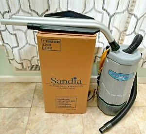 Sandia SUPER RAVEN Commercial Backpack Vacuum Cleaner 10QT with Accessories