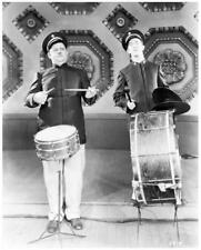 LAUREL & HARDY great 8x10 still playing drums -- g757
