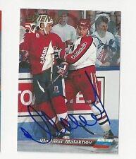 1996 WIEN Autographed Hockey Card Vladimir Malakhov Team Russia