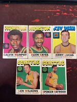 1971 Topps Basketball Lot of 5 includes Jerry Lucas Elvin Hayes Calvin Murphy