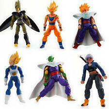 Dragonball Z Set of 6x 4'' Action Figures PVC Dolls Toys Hands & Faces Removable