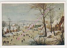 CP ART TABLEAU PIETER BRUEGHEL Paysage en hiver Winterlandescape