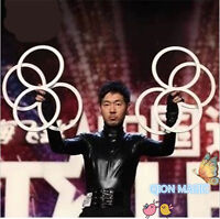 Eight Ring - Juggling /Illusion linking Rings,Stage Magic Trick,Mental,illusion