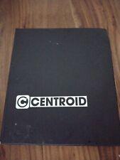 Centroid controller T series operators manual version 7.09 2000 mastercam