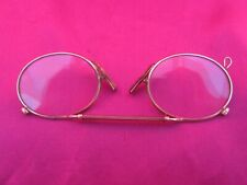 VINTAGE 9CT GOLD PINCE NEZ IN ORIGINAL CASE - USED - GLASSES PERFECT CNDITION