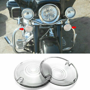 Clear Turn Signal Light Flat Lens Cover For Harley Road Electra Glide R