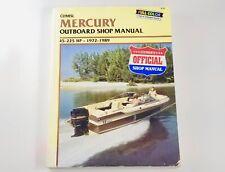 Clymer 1972-1989 Mercury 45-225hp Outboard Maintenance Service Shop Manual B726