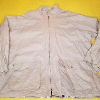 VTG Polo Ralph Lauren XL Wax Linen Canvas RRL Hunting Cruiser Jacket Cinch