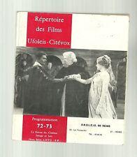 Répertoire des films Ufoleis Citévox programmation  72 - 73 Image et Son HS