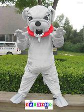 Scary Bulldog Mascot Costume Fancy Dress - Worldwide Shipping - Dog Suit Pitfall