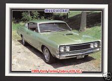1969 FORD TORINO 428 SUPER COBRA JET SCJ Muscle Car Photo 1992 SPEC TRADING CARD