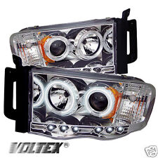 2002-2005 DODGE RAM 1500 2500 3500 CCFL LED PROJECTOR HEADLIGHTS LIGHTBAR CHROME