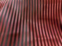 """RED & BLACK STRIPE FAUX SILK FABRIC 60""""W SUIT JACKET DRESS DRAPE LINING BTY"""