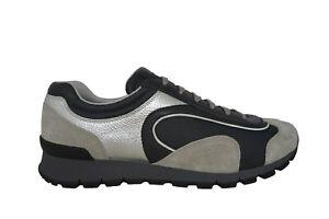 New Authentic Leather PRADA Mens Shoes Sneakers Schuhe Sz US12 EU45 UK11 4E3080