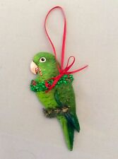 Green Parrotlet Holiday Christmas Tree Ornam 00006000 Ent