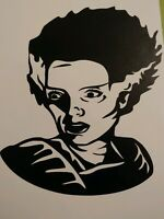 Bride of Frankenstein Vinyl Decal Mary Shelly Boris Karloff Horror Any Color