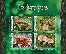 Niger 2016 MNH Mushrooms 4v M/S Champignons Boletus Fungi Stamps