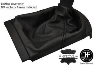 BLACK STITCHING FITS SEAT IBIZA MK3 2002-2008 SHIFT BOOT 100% GENUINE LEATHER