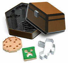 Minecraft Christmas Cookie Cutters Creeper Player Sword Pickaxe Collectible Tin