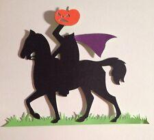 Halloween Headless Horseman Die Cut Embellishment Handmade With Card Stock