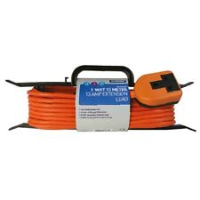 10M HEAVY DUTY ORANGE EXTENSION LEAD CABLE 13 AMP 1 WAY 1 SOCKET  H FRAME 34291
