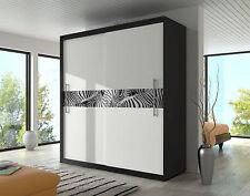 BRAND NEW MODERN SLIDING DOOR BEDROOM WARDROBE 6ft8inch(204cm)-BLACK&WHITE ZEBRA
