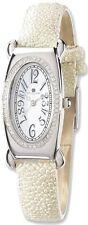 Ladies Charles Hubert White Stingray 0.68ctw Diamond 21x38mm Watch